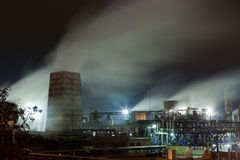 Chemical plant at the night Royalty Free Stock Photography