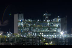 Chemical plant in night Stock Photos