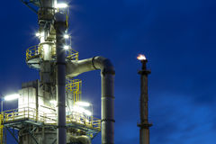 Chemical plant at night Stock Photography