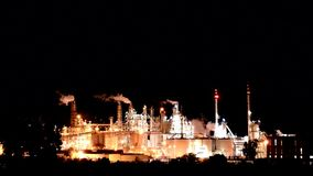 Chemical plant stock video