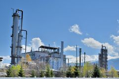 Chemical plant - Old Methanol Plant. Chemical Company - Old Methanol Plant German Concept royalty free stock photo