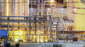 Chemical plant process area Stock Image