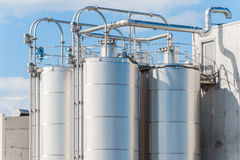 Free Chemical Plant, Silos Royalty Free Stock Photography - 54633307
