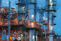 Chemical plant structure Stock Images