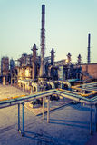 Chemical plant in the sunset Stock Images