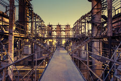 Chemical plant in the sunset. Stock Photography