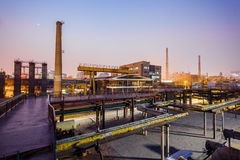 Chemical plant in the sunset Royalty Free Stock Photos