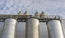 Chemical plant, tank Royalty Free Stock Photo