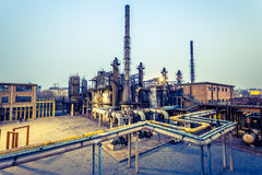 Chemical plant at twilight Royalty Free Stock Image