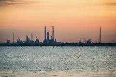Chemical Plant in Venice - Dramatic Sunset Stock Image