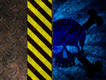 Chemical poison warning Stock Photos