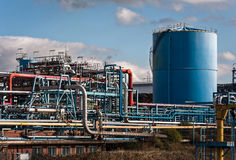 Chemical Processing Factory Plant Royalty Free Stock Image