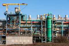 Chemical Processing Factory Plant Royalty Free Stock Images