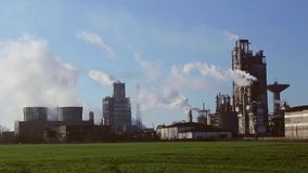 Chemical processing plant stock video