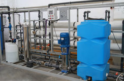 Chemical processing of water Royalty Free Stock Image