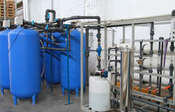 Chemical processing of water Royalty Free Stock Photos