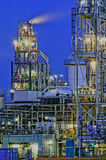 Chemical production facility. At nightfall Stock Photo