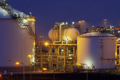 Chemical production facility Royalty Free Stock Photography