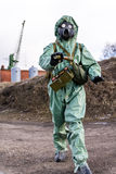 Chemical protective clothing of Soviet Union. Stock Images