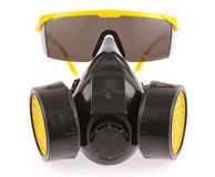 Chemical protective mask and Safety glasses Stock Photos