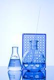 Chemical provrör Arkivfoto