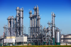 chemical raffinaderi Royaltyfri Bild