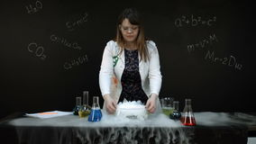 Chemical reaction stock video footage