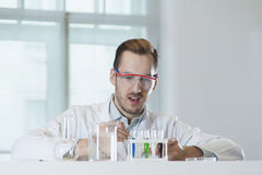 A chemical reaction in a test tube Stock Images