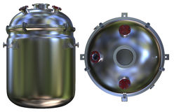 Chemical reactor. On white Stock Image