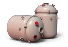 Chemical reactor. On white Royalty Free Stock Photo