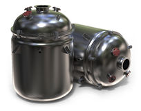 Chemical reactor. On white Stock Images