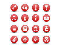 Chemical red icons Royalty Free Stock Photo