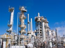 Chemical Refinery Stock Image