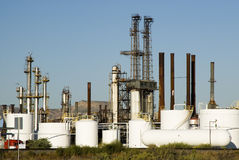 Chemical refinery. A chemical processing plant in Colorado Stock Photo