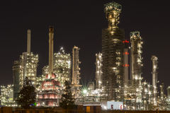 Chemical refinery in Botlek Rotterdam. By night Royalty Free Stock Photography