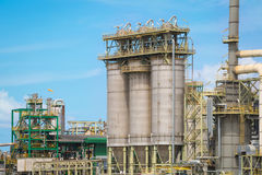 Chemical refinery industrial plant Stock Image