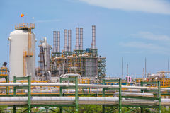 Chemical refinery industrial plant Stock Photography