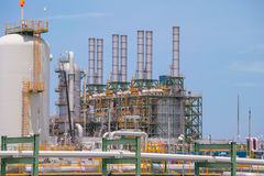 Chemical refinery industrial plant Stock Photo