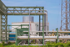 Chemical refinery industrial plant Royalty Free Stock Images