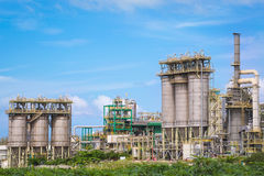 Chemical refinery industrial plant Royalty Free Stock Photo