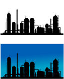 Chemical or refinery plant Stock Images