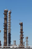 Chemical Refinery Plant Smokestack Tower Pipeline. Heavy industry Stock Photography