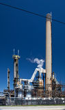 Chemical Refinery Plant Smokestack Tower Pipeline. Heavy industry Royalty Free Stock Photography