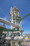 Chemical refinery tower. In sunny day Royalty Free Stock Photography