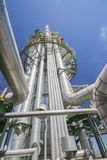 Chemical refinery tower. In sunny day Royalty Free Stock Photos