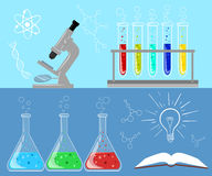 Chemical research laboratory equipment for scientific experimen Stock Images