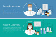 Chemical Research Laboratory. horizontal banner Stock Photos