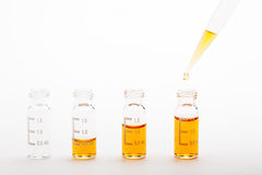 Chemical research - sample preparation royalty free stock images