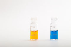 Chemical research - Samples for analysis Stock Photography
