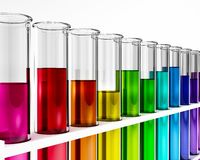 Chemical research test tube Royalty Free Stock Image
